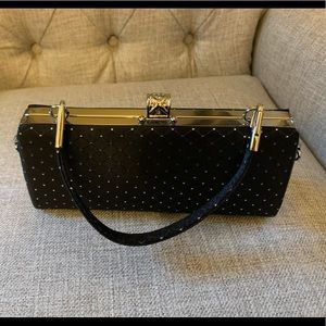 Classy and elegant! Top handle black dress bag